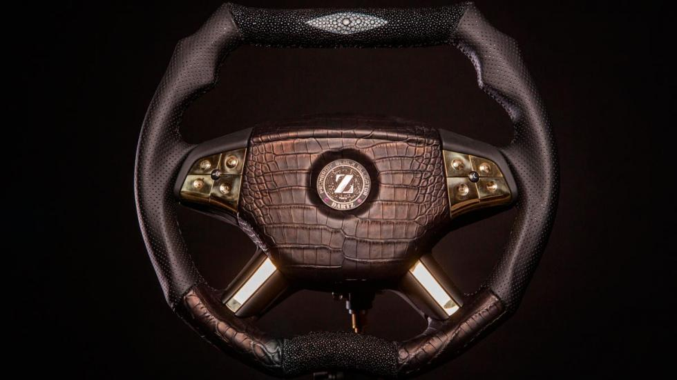 Volante más caro Dartz lujo black alligator ostentoso lujoso exclusivo oro diamantes