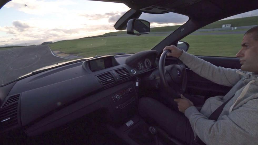 BMW 1M Coupé Chris Harris vídeo deportivo derrape negro