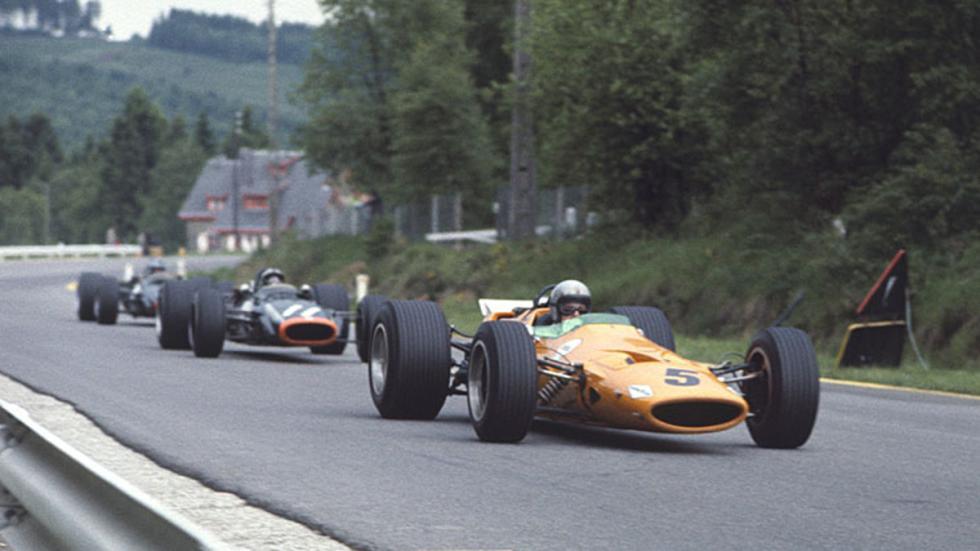 Bruce McLaren suma la primera victoria de su propia escudería en Spa 1968