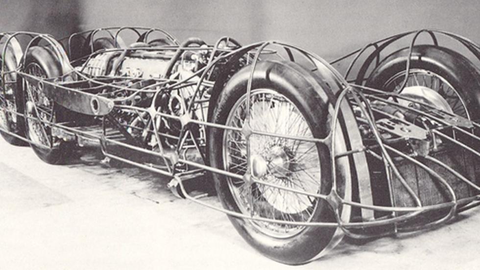Chasis tubular del Mercedes T80