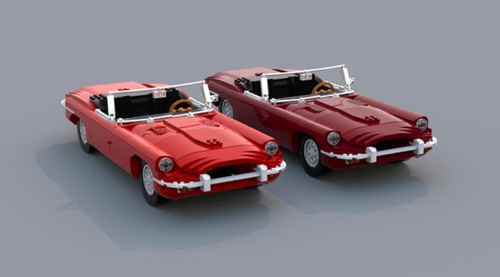 Jaguar E-Type de LEGO