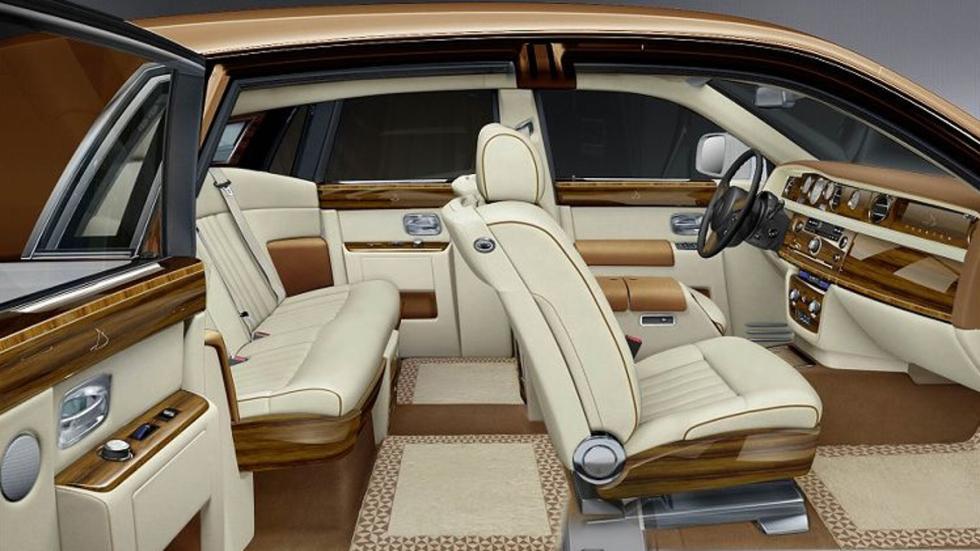 Lujo y ostentación en el interior del El Rolls-Royce Phantom de Donald Trump