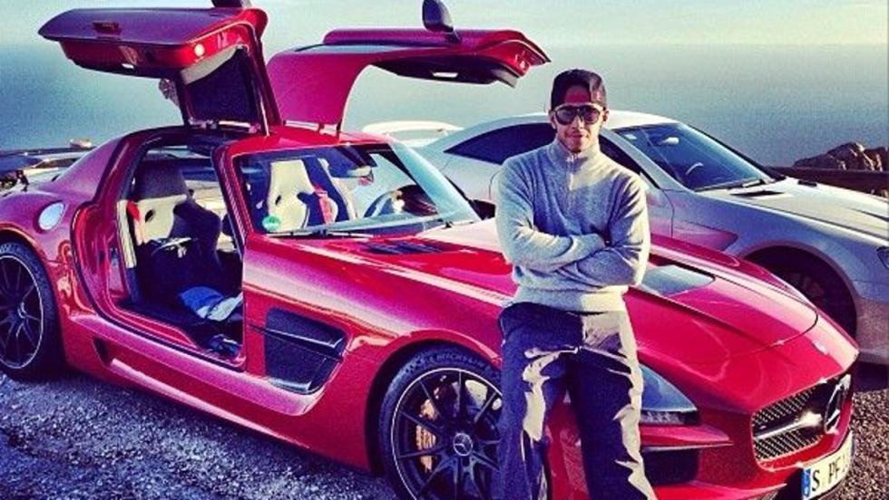 El Mercedes SLS AMG Black Edition de Lewis Hamilton