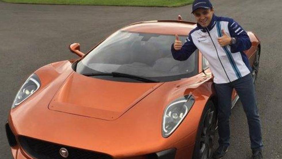Massa y el imponente Jaguar C-X75