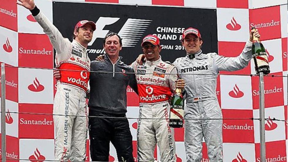Nico consiguió en el GP de China 2010 uno de sus tres podios del año
