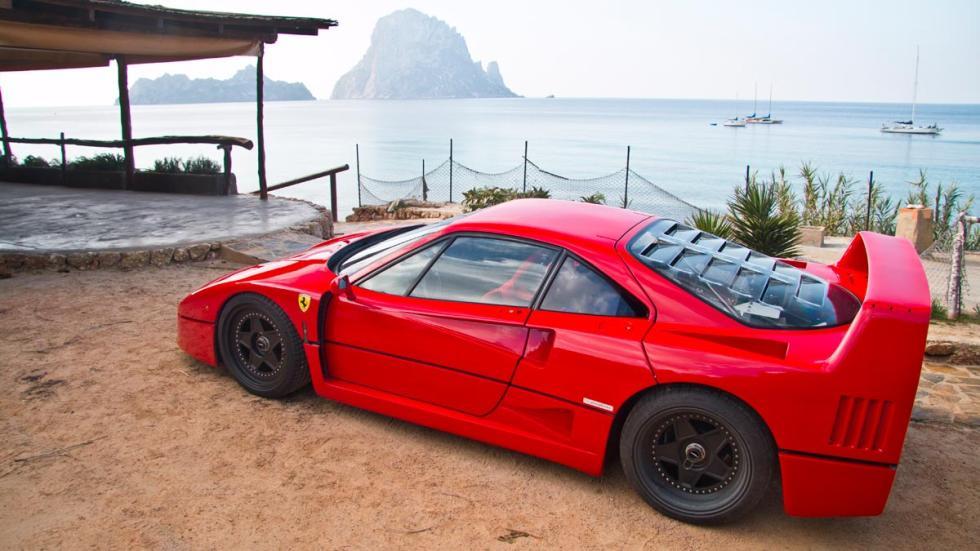 Prueba Ferrari F40 ABS control de tracción deportivo clasico