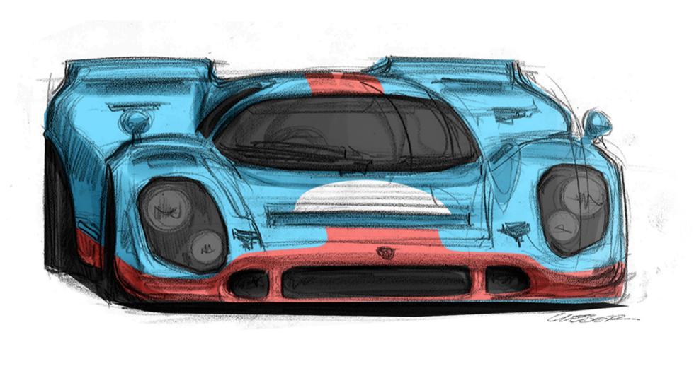Render del Porsche 917 (IV)