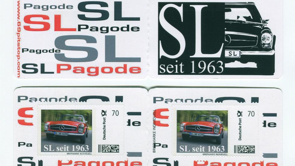 Sellos del Mercedes SL Pagoda
