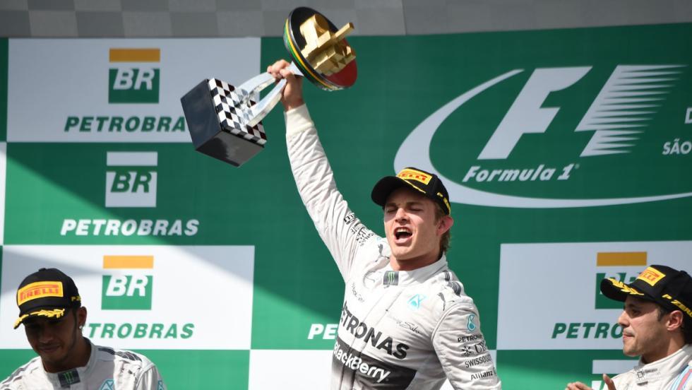 La victoria de Nico en el GP de Brasil 2014 fue la quinta del año, pero insuficiente para coronarse