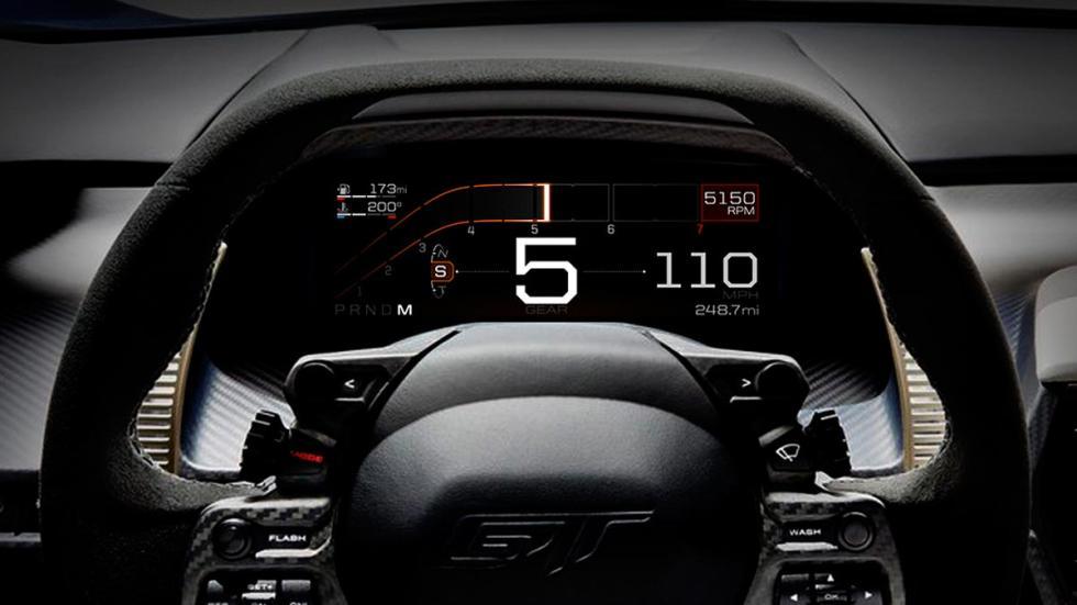 Cuadro de mandos digital Ford GT tecnología