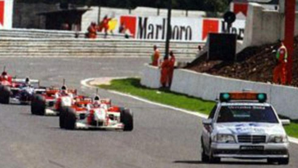Debut de un Mercedes (C36 AMG) como safety car en el GP de Bélgica 1996