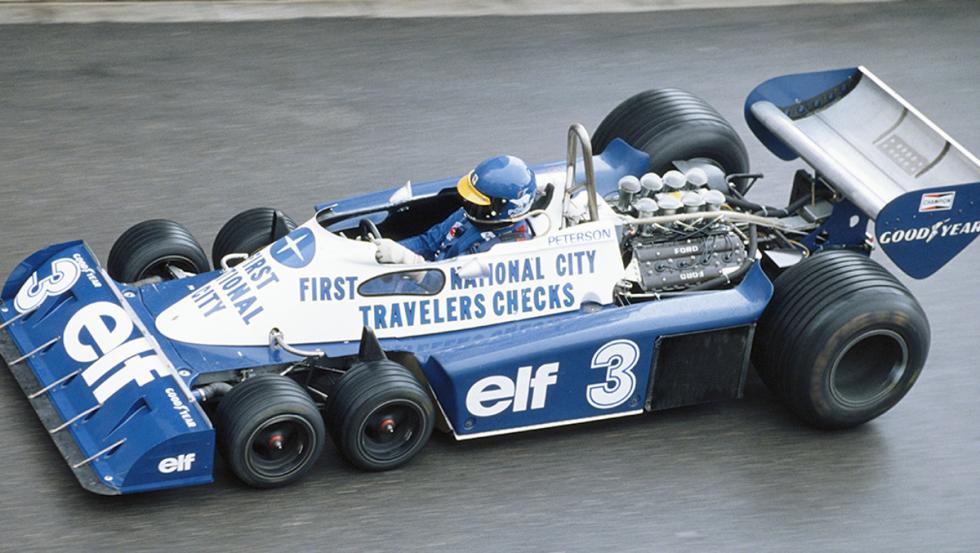 La espectacular silueta del Tyrrell P34 del 77