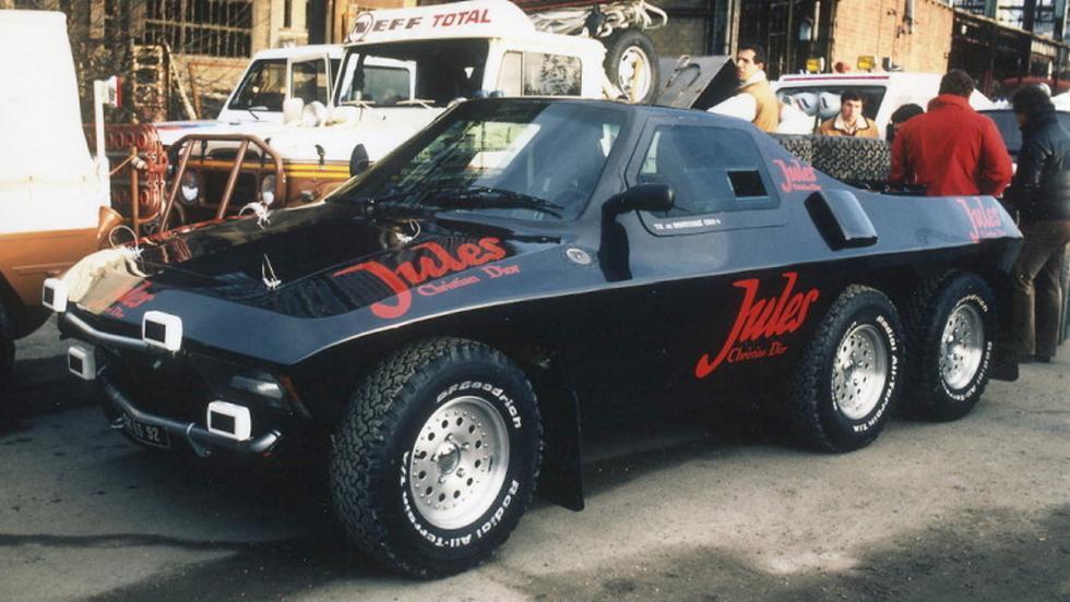 La estética rompedora del Jules II Proto 6x4 Proto causó sensación en el Dakar 1984
