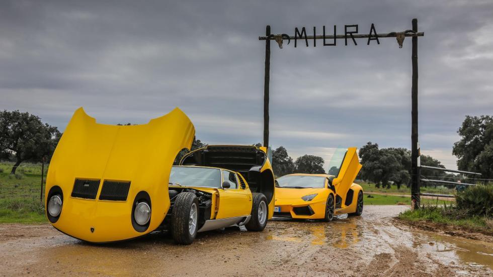 Lamborghini Miura en la ganadería Miura clásico deportivo