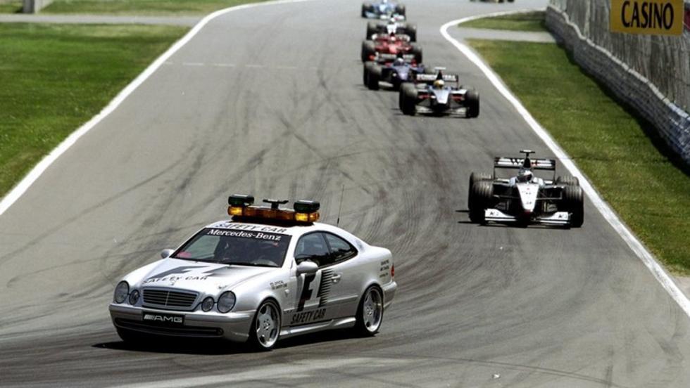El modelo Mercedes CLK 55 AMG fue el coche de seguridad entre 1997 y 1999