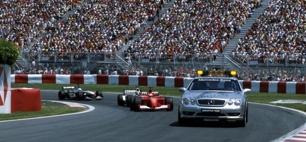 Entre 2001 y 2002 el Mercedes SL 55 AMG fue el coche de seguridad