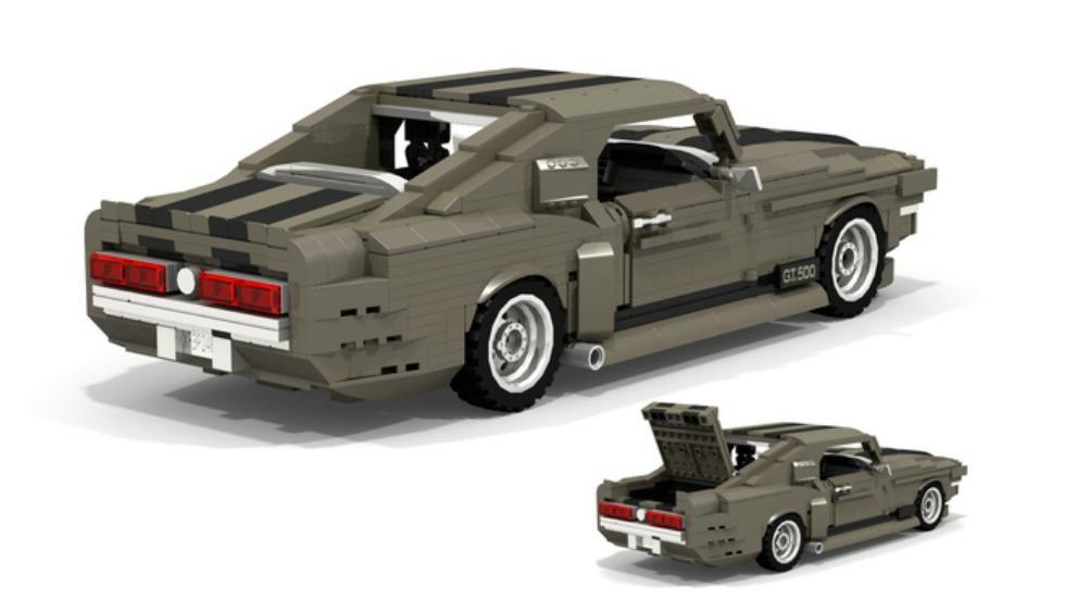 Shelby Mustang GT500 'Eleanor' de Lego