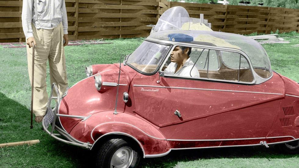 Un singular Messerschmitt del 56. Al Rey le gustaban todo tipo de coches