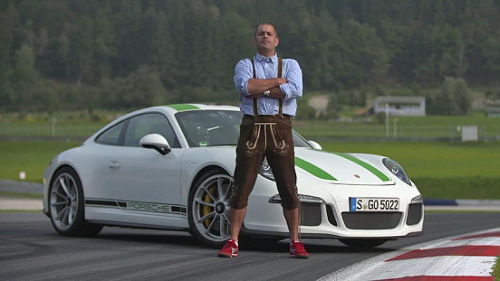 Todas las pruebas de Chris Harris para Top Gear - Porsche 911 R... vestido con lederhosen