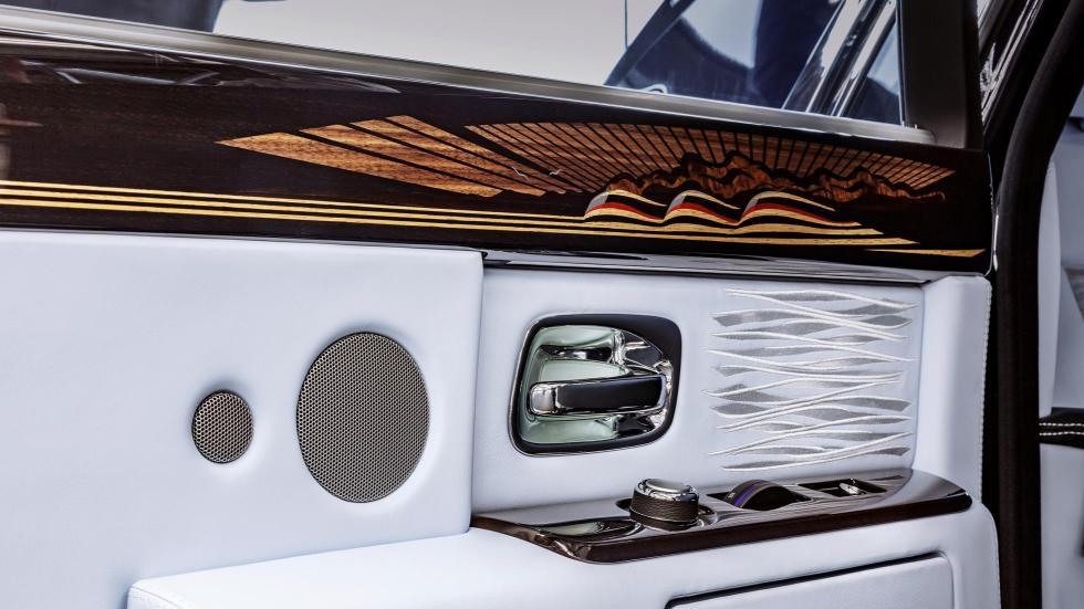 último Rolls-Royce Phantom lujo art deco cuero madera