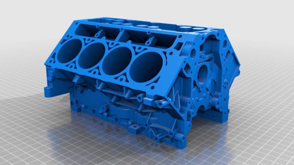 El V8 de un Camaro impreso en 3D