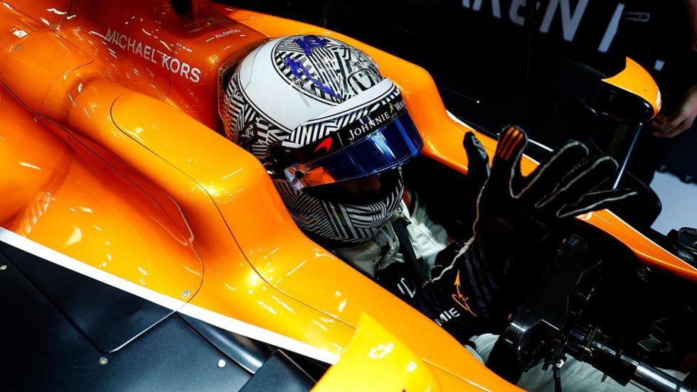 Nuevo casco Fernando Alonso 2017 cebra