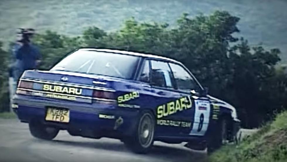 Colin McRae con el Subaru Legacy RS