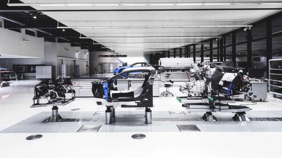 Cómo se construye un Bugatti Chiron