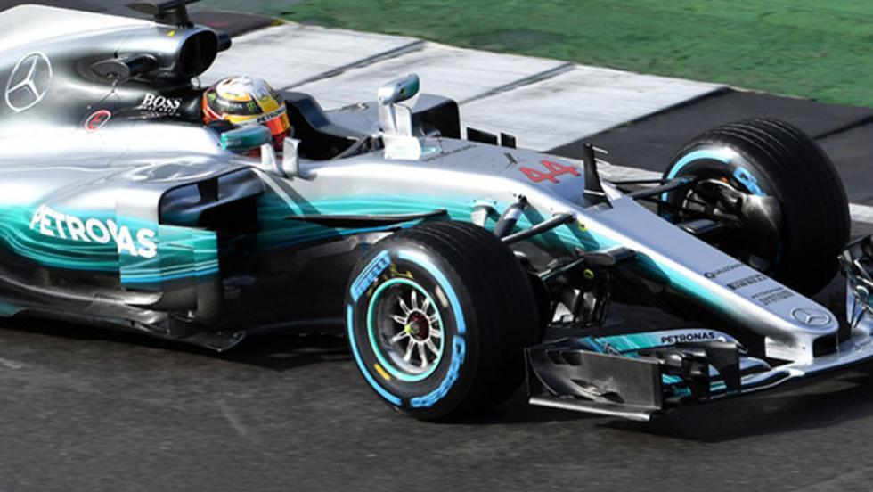 Detalle del nuevo Mercedes W08 F1 2017