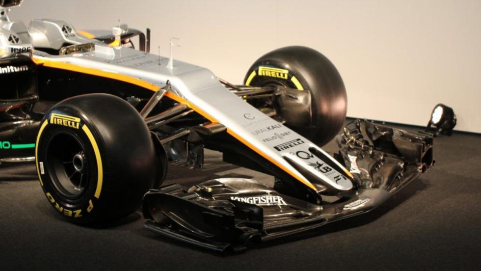 Fíjate en el original morro del Parte trasera del Force India VJM10