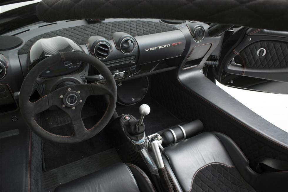 Hennessey Venom GT Spyder Steven Tyler interior