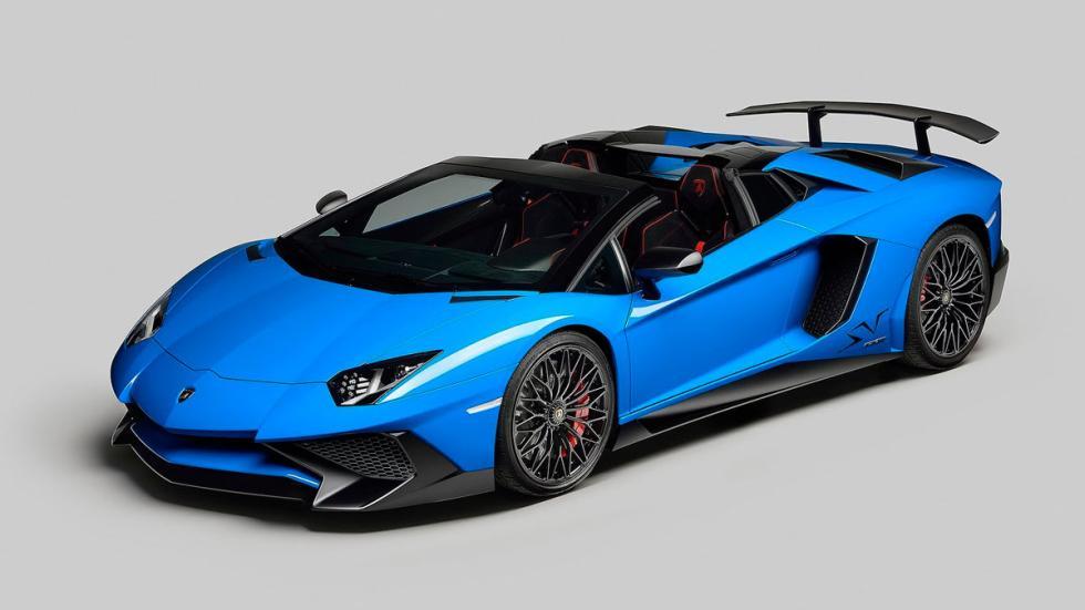 Lamborghini Aventador SV Roadster azul deportivo