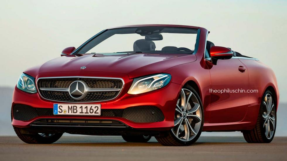 Mercedes Clase E cabrio render