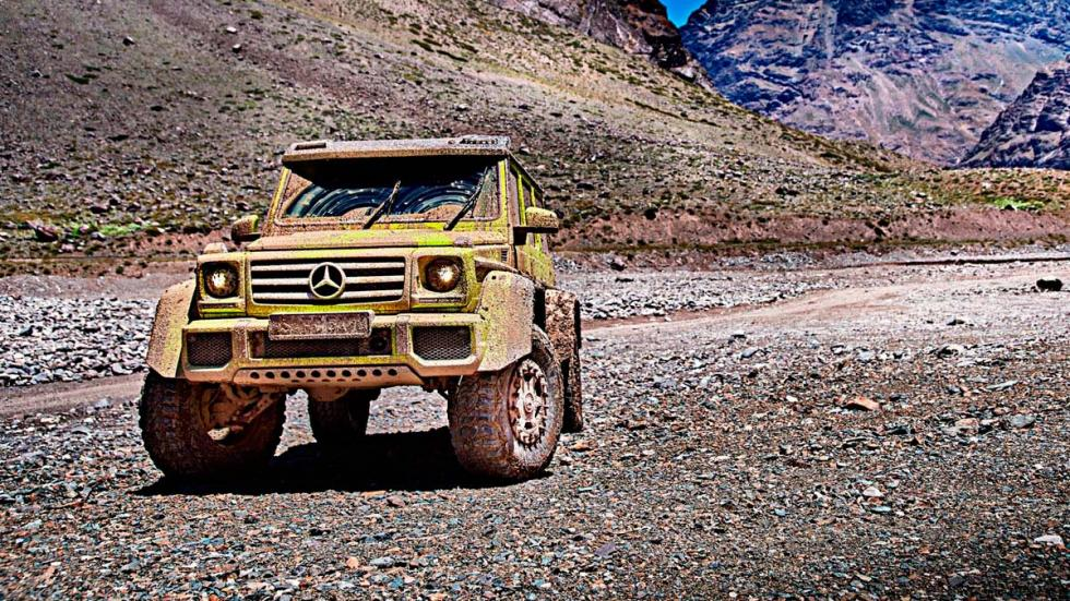 Mercedes G500 4x4 al cuadrado barro off-road