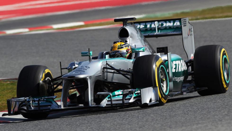 El Mercedes W03 de Lewis Hamilton en 2013