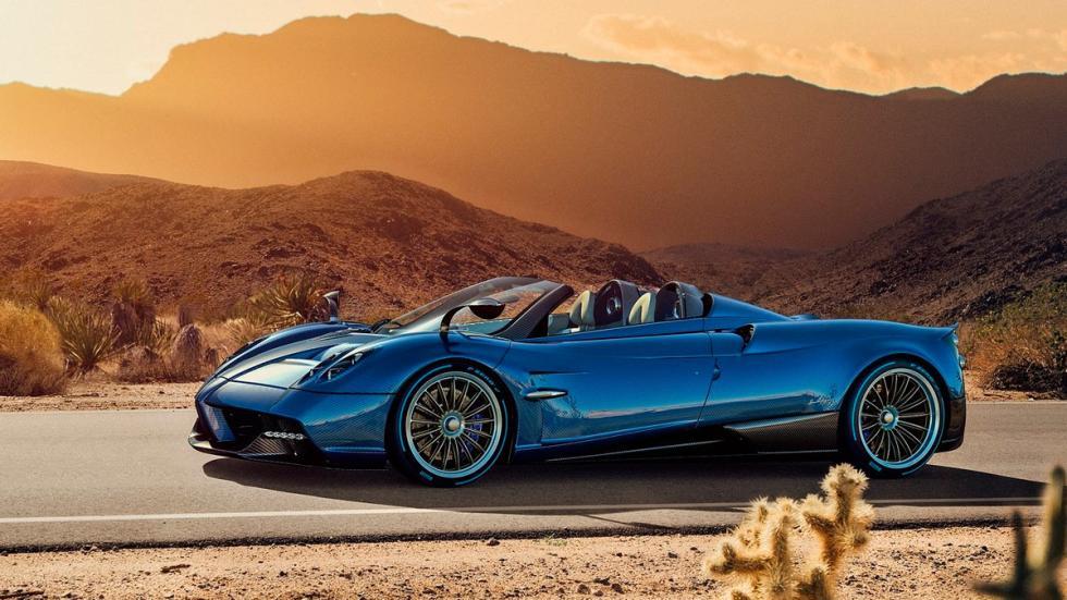 Pagani Huayra Roadster azul carbono
