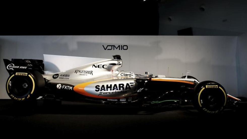 La pureza de líneas domina el diseño del Force India VJM10