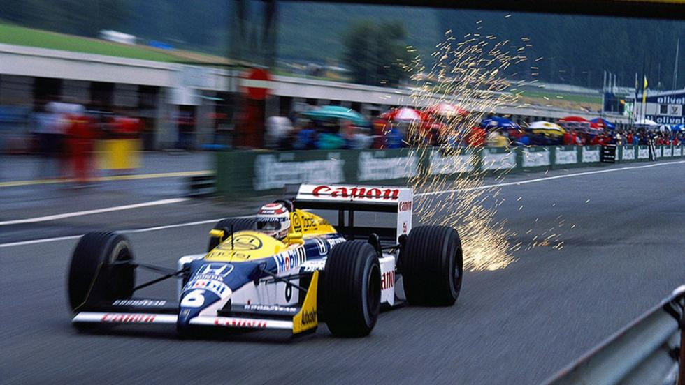 El Williams FW11B de Mansell en 1987