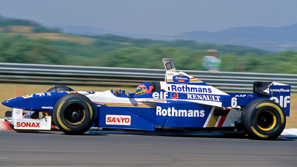 El Williams FW18 de Jacques Villeneuve en 1996