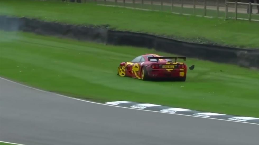 Accidente McLaren F1 GTR Nick Mason