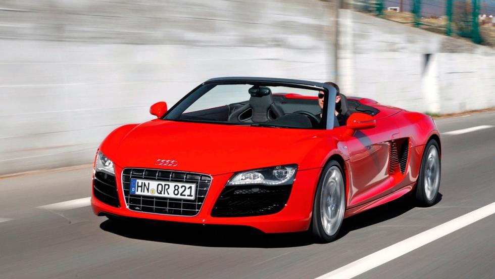 Coches más lentos que el Audi RS5: Audi R8 V10 Spyder