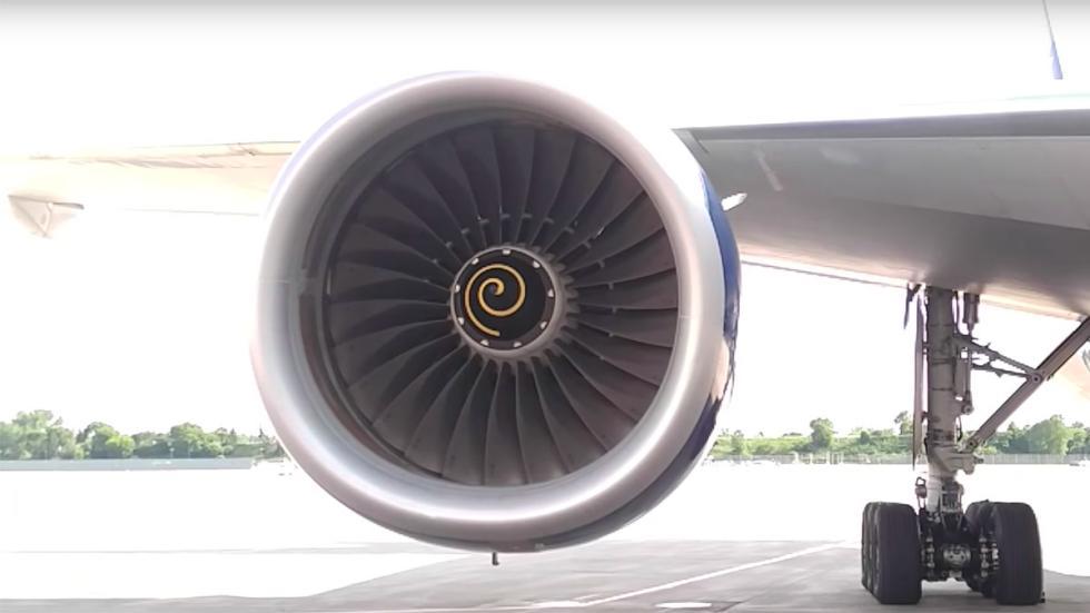 Fotos espirales motor avión