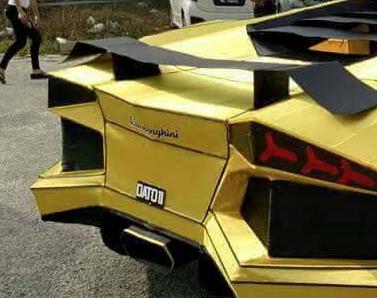 Lamborghini Aventador papel alerón