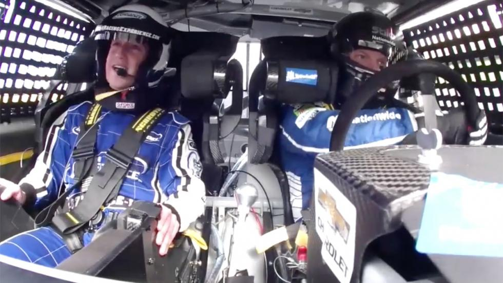 Mark Zuckerberg NASCAR onboard