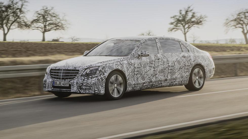 Nuevo Mercedes Clase S futuro conduccion autonoma camuflado
