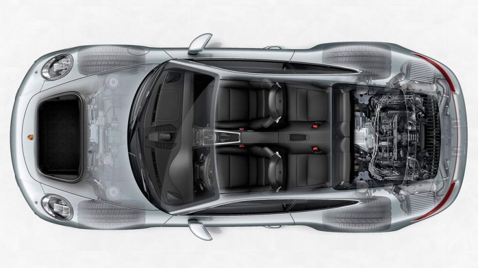 Plazas traseras Porsche 911 deportivo