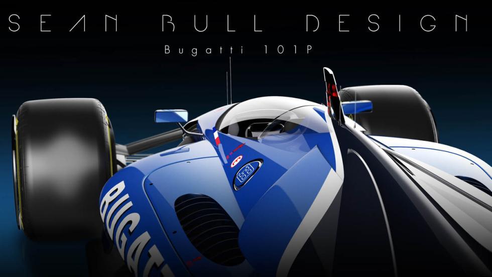 Capó motor del Bugatti 101P