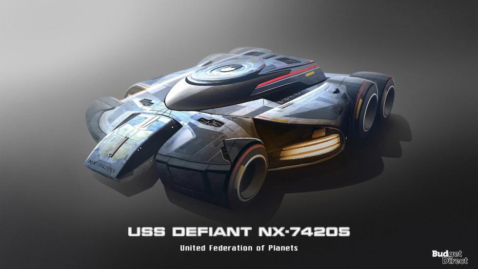 Coches de las naves de Star Trek: USS Defiant NX-74205