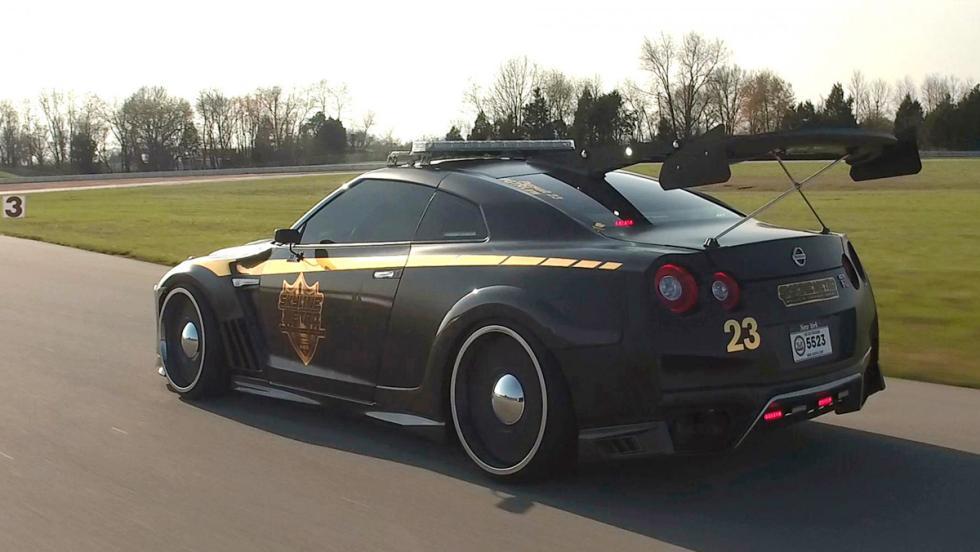 El espectacular Nissan GT-R de la Policía de Nueva York