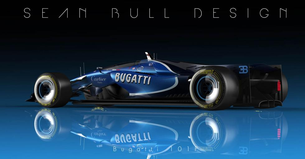 Espectacular plano del Bugatti 101P
